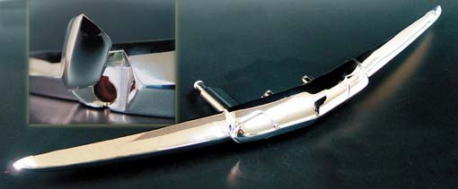trunk handle chrome 1951 , chrome plated, by Carpenter Ind
