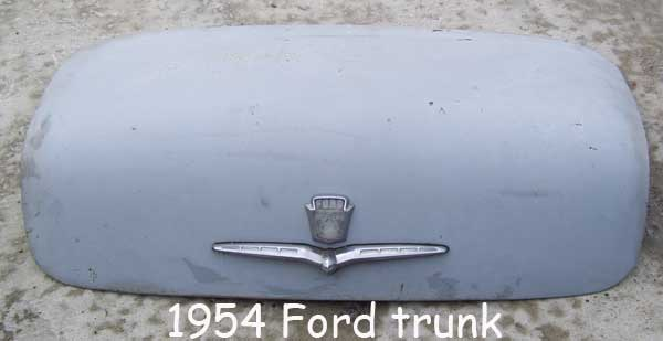 1954 ford trunk lid