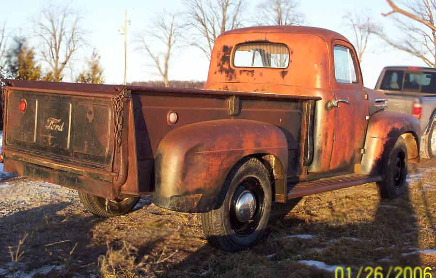 1949 Ford F3 Truck http://www.woolcockantiqueauto.com/Antique-Ford-Pickup-1949-six-cylinder-pass-rear.htm
