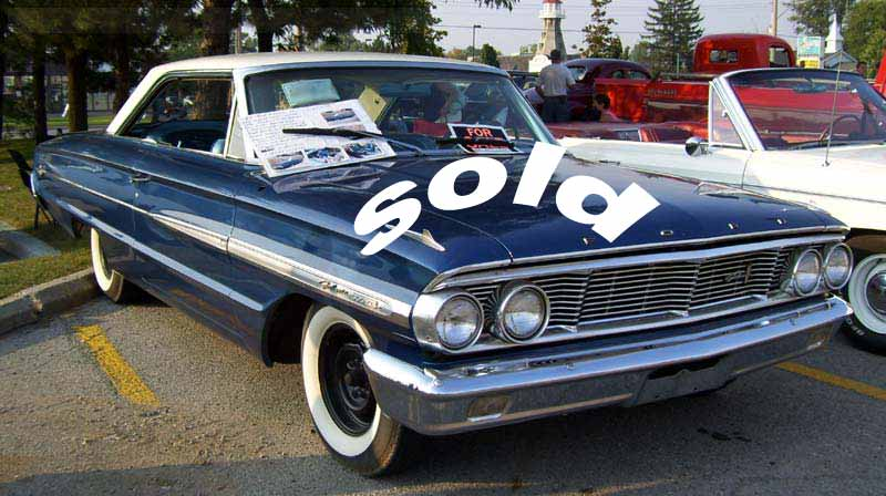 1964 Ford Galaxie two door hard top click to return to antique vehicles page
