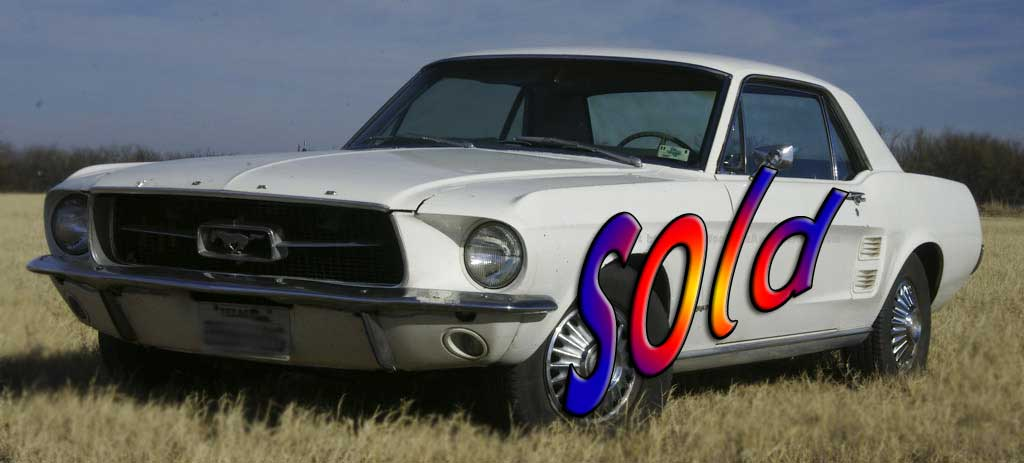 Mustang Ford Coupe 289 1967 Click To Move Next Vehicle