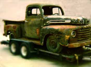 1950 Ford 1/2 ton pickup truck before restoration