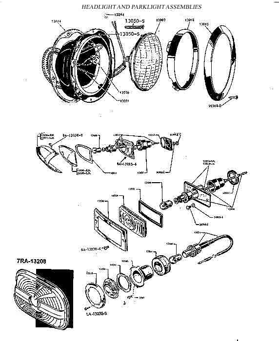 Ford Car reproduction parts 1949 to 1951