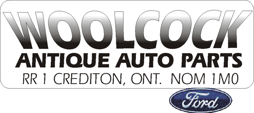 Woolcock antique auto   RR1 Crediton Ont N0M 1M0  Click for our  list of antique auto and truck parts page
